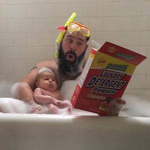 C'est cool le bain moussant !