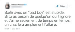 Le chat ou le bad boy ?