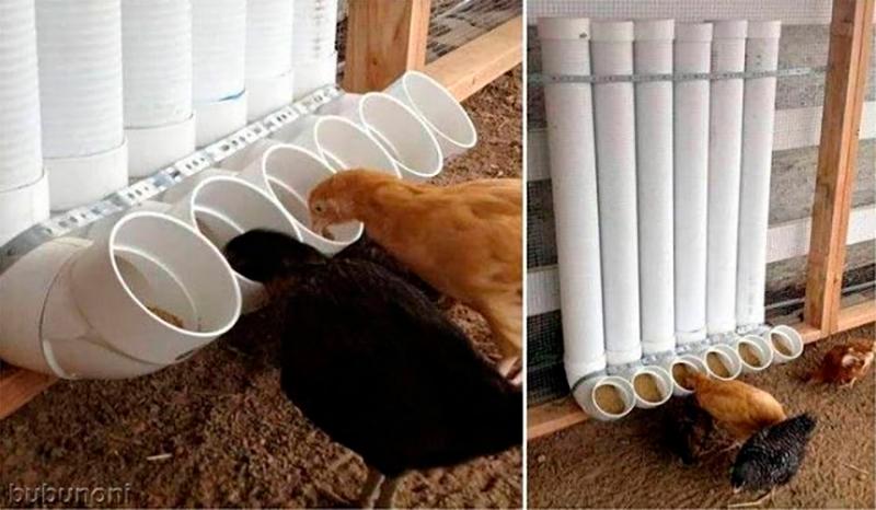 Fabriquer un conteneur pour la nourriture des animaux (oiseaux ou animaux de rue) en fixant un coude à l'extrémité du tube.