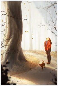 Je profite pleinement d'une promenade matinale qui éveille tous les sens