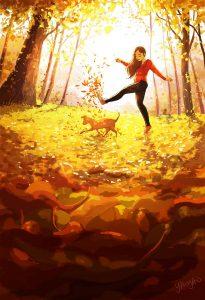 Je peux me balader en forêt sans me préoccuper que de la vie