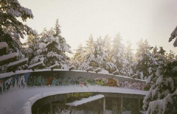 Le parcours de bobsleigh des Jeux Olympiques d'hiver – Sarajevo