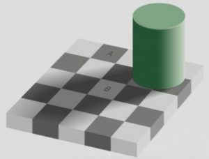 Regardez attentivement les carrés A et B