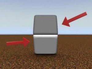 Les deux carrés ont des couleurs différentes
