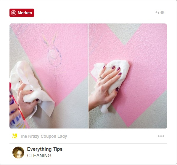 Comme moyen pour effacer les gribouillis sur les murs