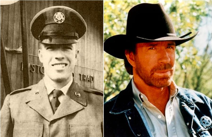 Chuck Norrisa a réjoint l'U.S. Air Force après ses études