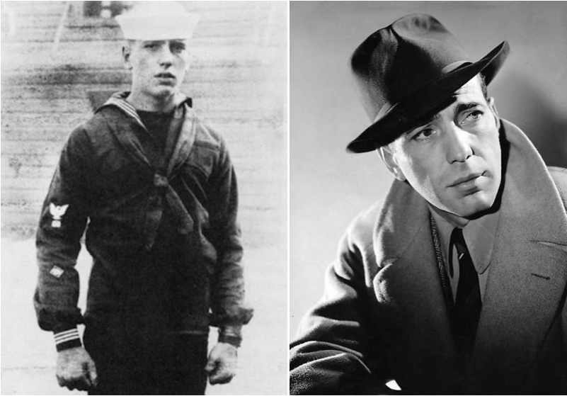 Humphrey Bogart : durant son enrôlement, il fut un marin transportant des troupes des États-Unis vers l'Europe