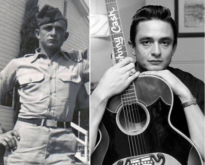 Johnny Cash a rejoint l'U.S. Air Force après l'obtention de son diplôme. Il a servi 4 ans en Allemagne