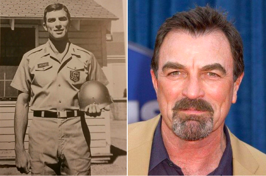 Tom Selleck fut intégra le California National Guard de 1967 à 1973