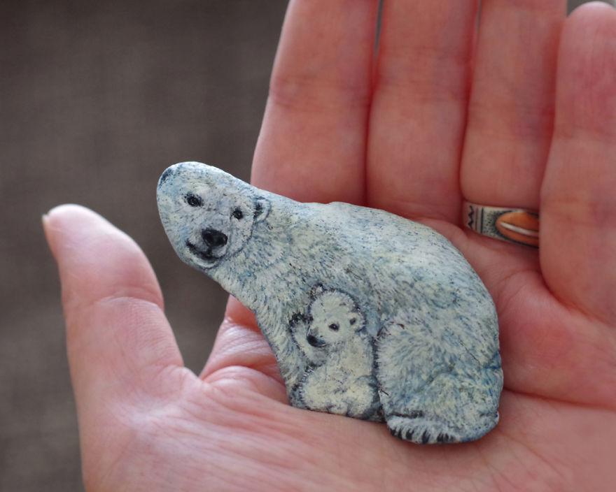 Un duo d'ours polaire