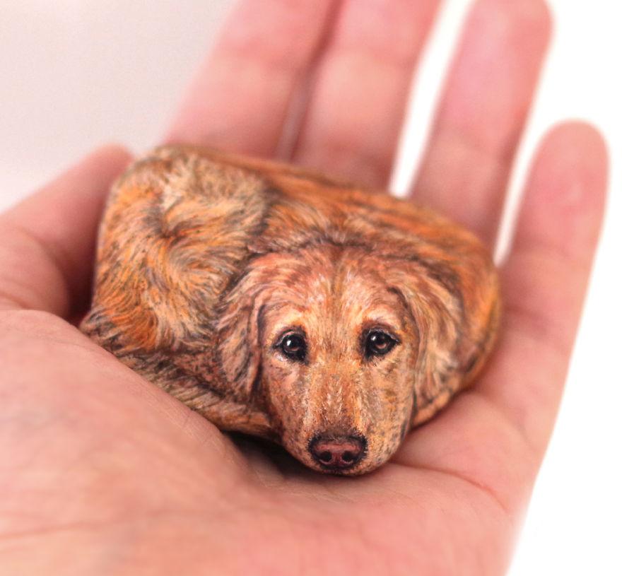 Un chien plein d'amour