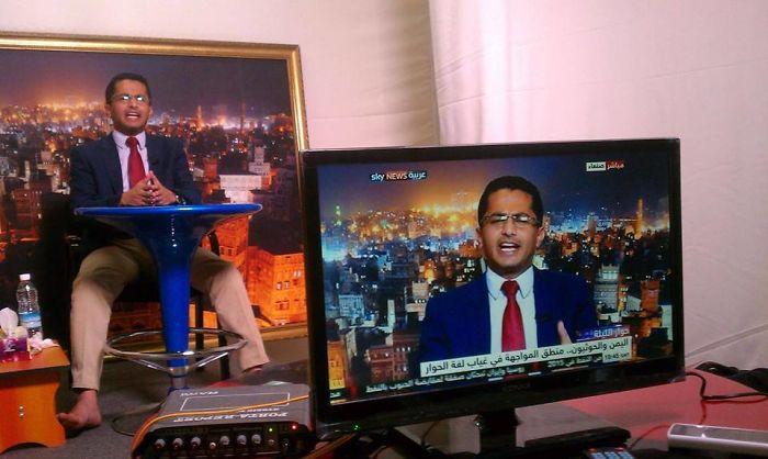 Dans une station de télévision…. Quelle arnaque….