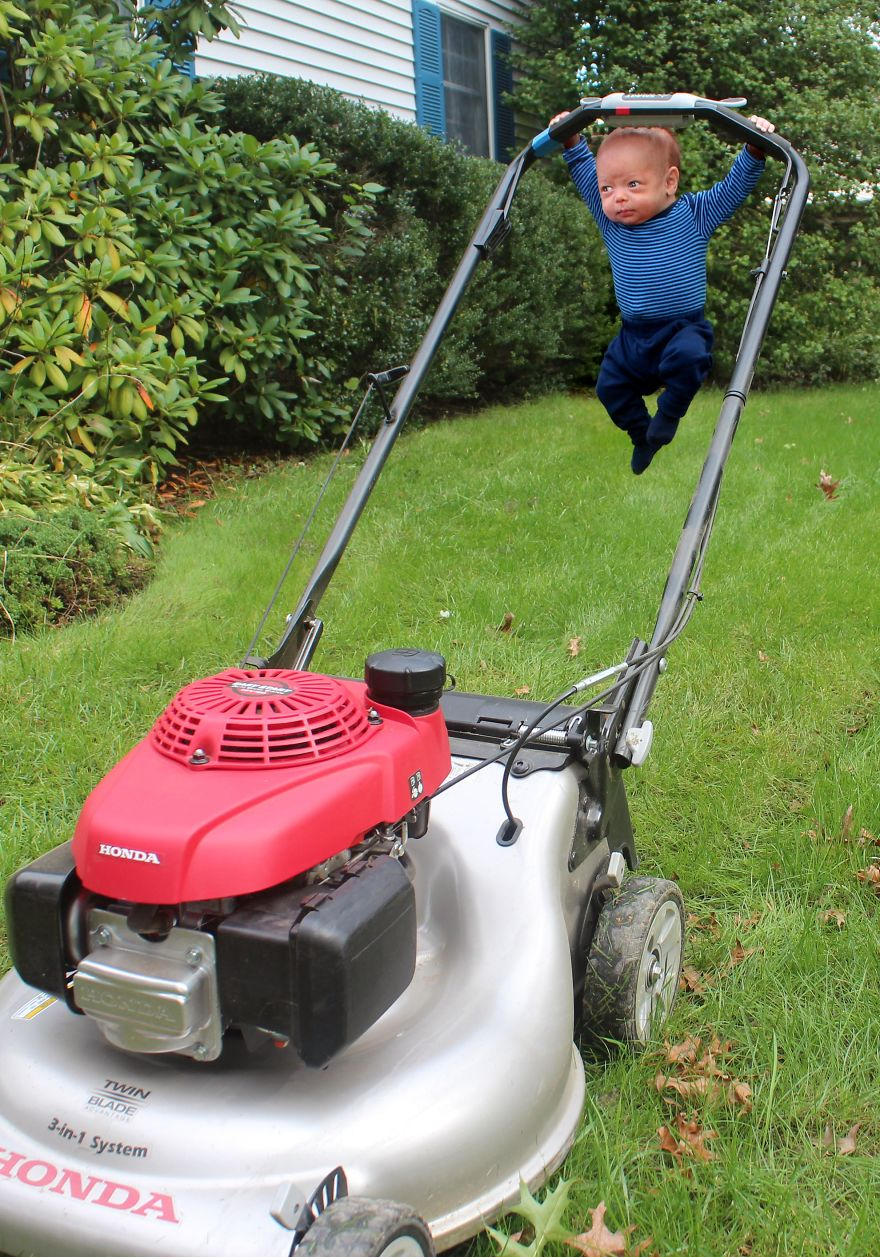 Il est temps de faire la pelouse