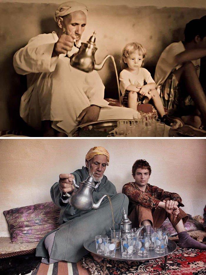 <b>24 ans plus tard, il prend toujours le thé avec son grand-oncle</b>