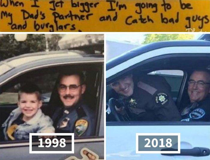 <b>20 ans après, il devient policier comme son papa</b>