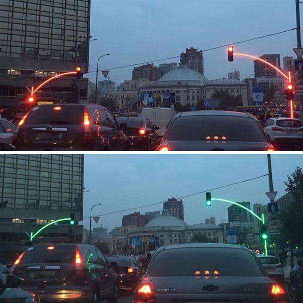 Ces feux de circulation en ukraine