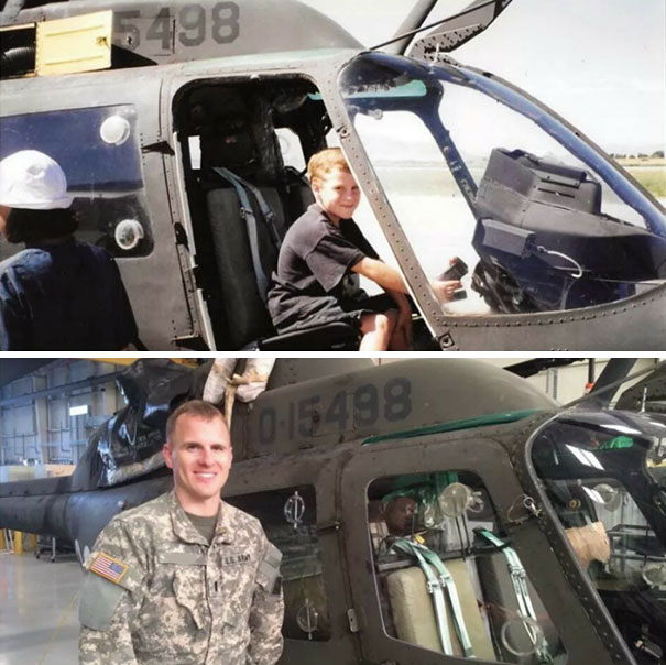 Il savait déjà qu'il était pour être pilote d'hélicoptère, mais avoir la même ça c'est plus weird!