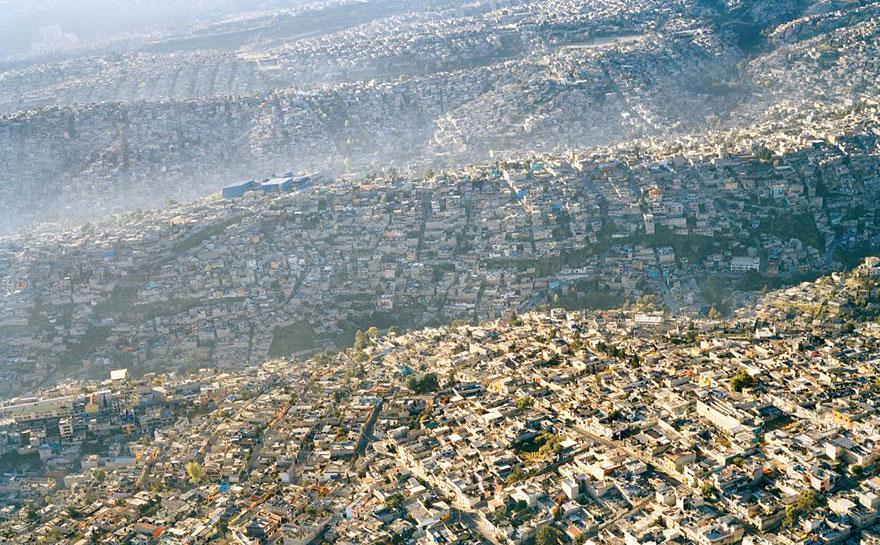 Paysage de Mexico, 20 millions d'habitants